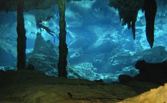 Tulum Cenotes Stalactites Riviera Maya