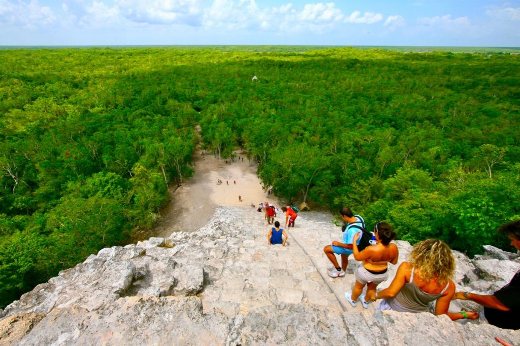 coba-archaeological rainforest mayan pyramid