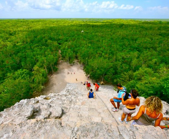coba-archaeological rainforest mayan pyramid