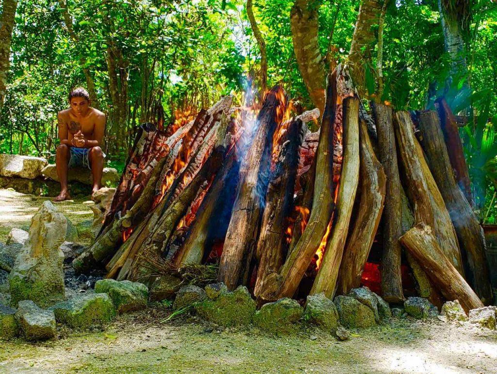 temazcal wellness experience tour riviera maya fire